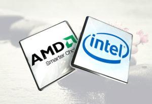 Логотипы процессоров INTEL и AMD