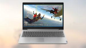 Сравнение изображений экранов ноутбуков HD (1366x768) и Full HD (1920x1080).